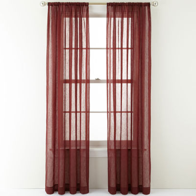 Royal Velvet® Crushed Voile Rod-Pocket Sheer Curtain Panel