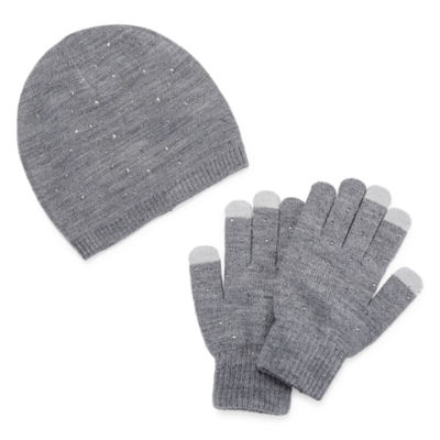 Mixit Stud Beanie And Glove 2-pc. Cold Weather Set