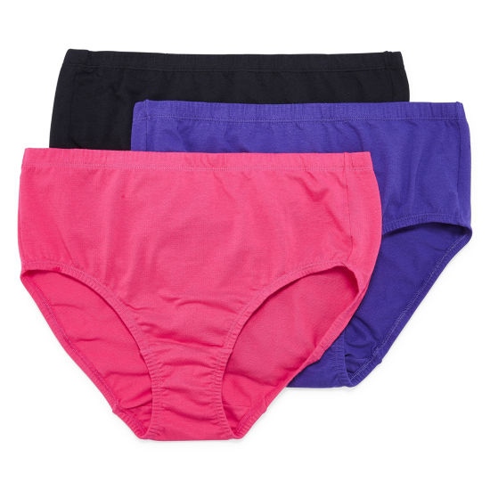 Fruit of the Loom 3-pack Fit For Me Breathable Brief Panties