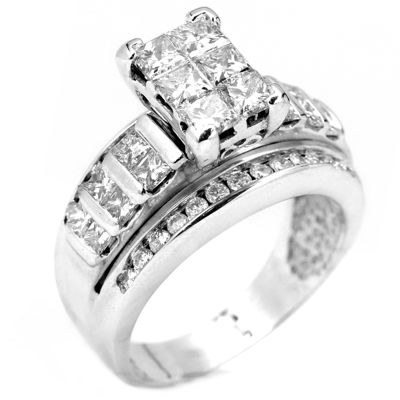 2 CT. T.W. Diamond 14K White Gold Engagement Ring
