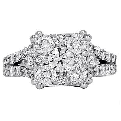 1¼ CT. T.W. Diamond 14K White Gold Split-Shank Engagement Ring