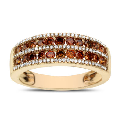 LIMITED QUANTITIES 3/4 CT. T.W. White and Color-Enhanced Cognac Diamond Ring