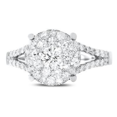 Brilliant Dream™  1 CT. T.W. Diamond Cluster Split-Shank Engagement Ring
