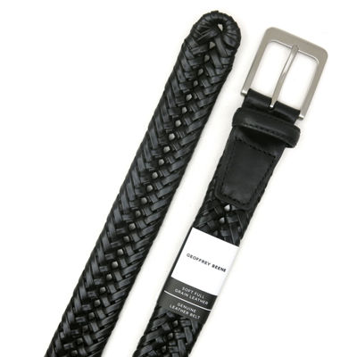 Geoffrey Beene® Braided Belt with Nickle Finish Buckle