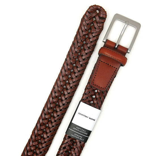 Geoffrey Beene® Braided Belt with Nickle Finish Buckle