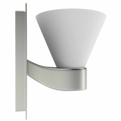 American Imaginations 5.25-in. W Square Brass Wall Mount Wall Sconce In Brushed Nickel Color