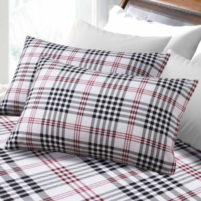 Tribeca Living Plaid 6 Oz Flannel Flannel Sheet Set