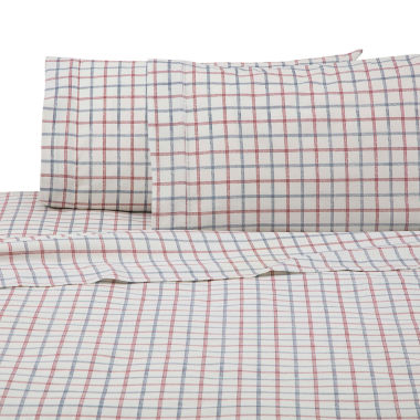 IZOD Grid Microfiber Easy Care Sheet Set