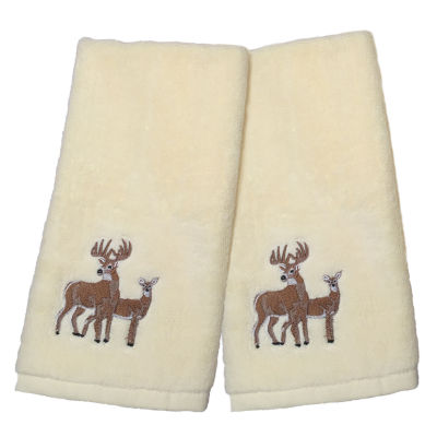 Laural Home Deer Time 2-pack Hand Towel