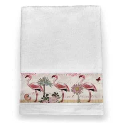 Laural Home Botanical Flamingo Bath Towel
