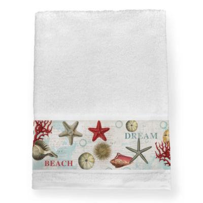 Laural Home Dream Beach Shells Beach + Nautical Bath Towel