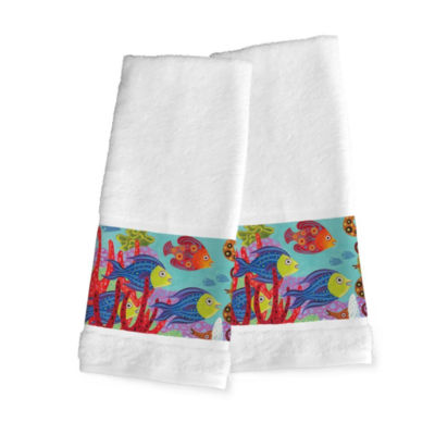 Laural Home Fish In The Hood 2-pc. Hand Towel