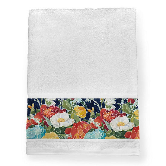 Laural Home Midnight Floral Bath Towel