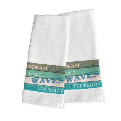 Laural Home Ocean Rules 2-pc. Hand Towel