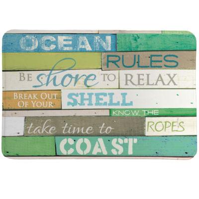 Laural Home Ocean Rules Memory Foam Bath Rug