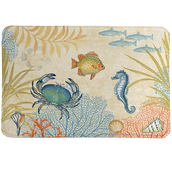 Laural Home Oceana Memory Foam Bath Rug