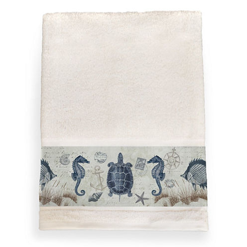 Laural Home Seaside Postcard Bath Towel
