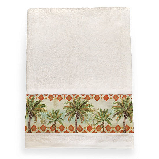 Laural Home Spice Palm Bath Towel