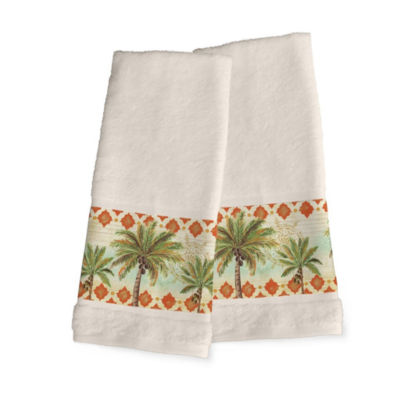 Laural Home Spice Palm 2-pc. Hand Towel