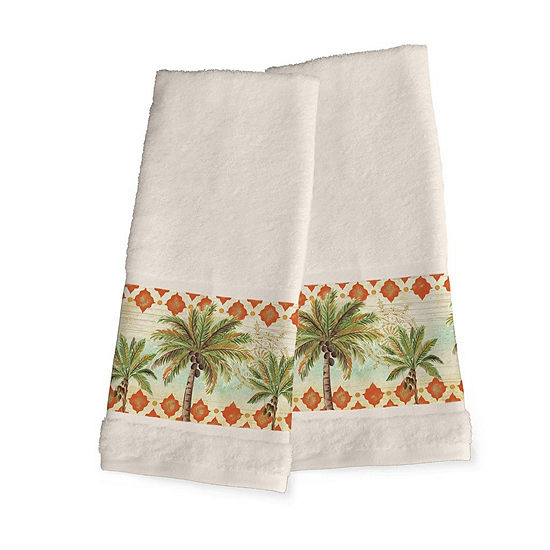 Laural Home Spice Palm 2-pc. Tropical Hand Towel
