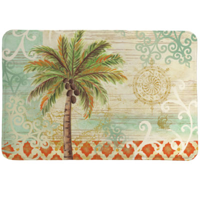 Laural Home Spice Palm Memory Foam Bath Rug