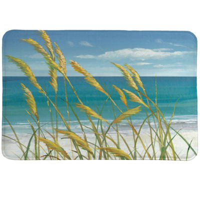 Laural Home Summer Breeze Memory Foam Bath Rug