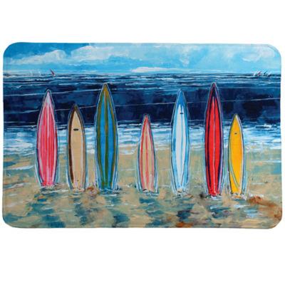 Laural Home Surfboards Memory Foam Bath Rug