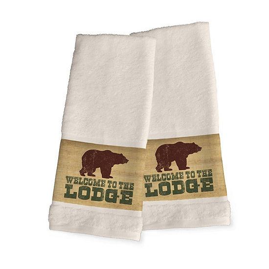 Laural Home Welcome To The Lodge 2-pc. Lodge Hand Towel