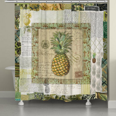 Laural Home Pineapple Scrapbook Shower Curtain