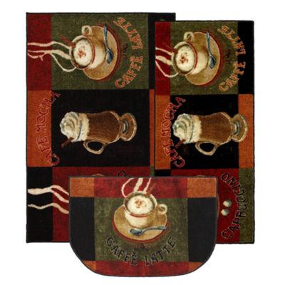 Mohawk Home New Wave Café Latte Printed Rectangular 3-pc. Rug Set