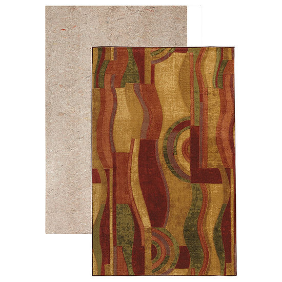 Mohawk Home New Wave Picasso Wine Printed Rectangular 2-pc. Rug Set