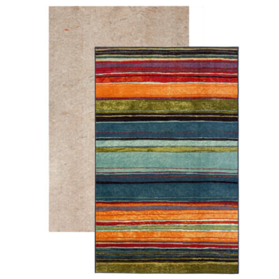 Mohawk Home New Wave Rainbow Printed Rectangular 2-pack Rug Set