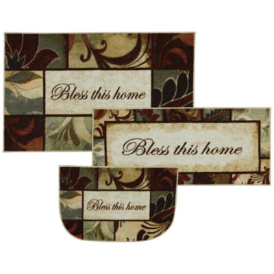 Mohawk Home New Wave Rules To Live By Printed Rectangular 3-pc. Rug Set