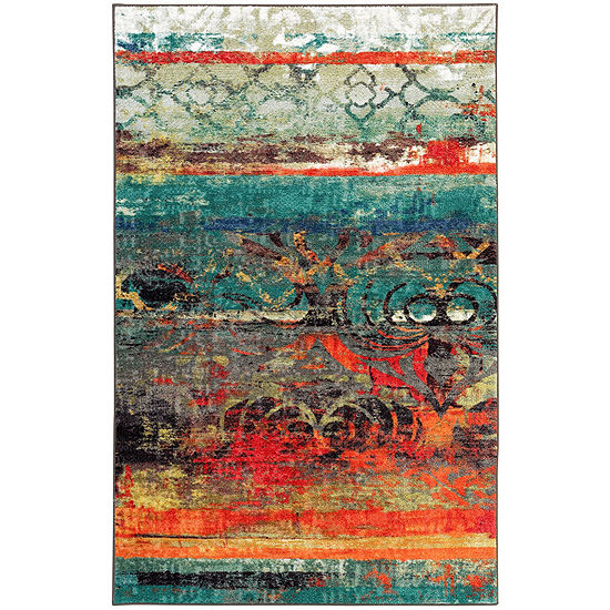 Mohawk Home Strata Eroded Color Printed Rectangular Indoor Rugs