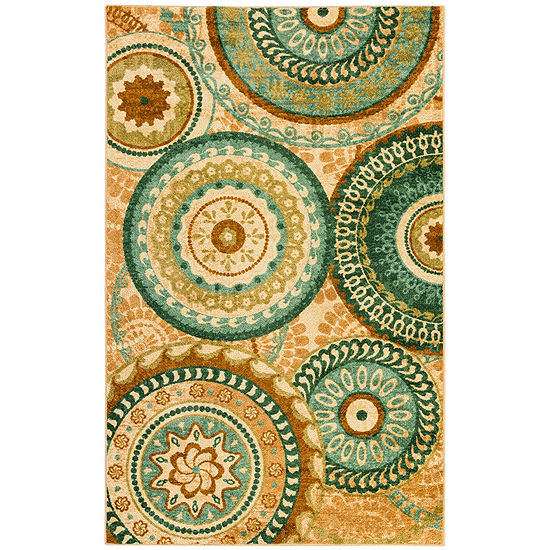 Mohawk Home Strata Forest Suzani Printed Rectangular Indoor Rugs