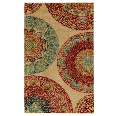 Mohawk Home Strata Lacey Medallions Printed Rectangular Rugs