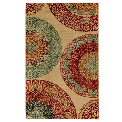 Mohawk Home Strata Lacey Medallions Printed Rectangular Indoor Area Rug