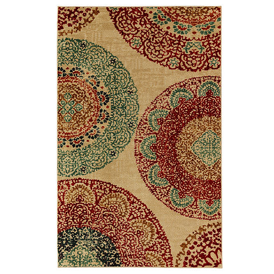 Mohawk Home Strata Lacey Medallions Printed Rectangular Indoor Rugs