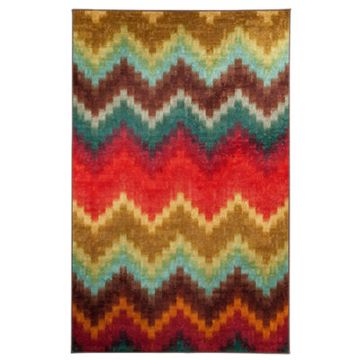 Mohawk Home Strata Painted Zig Zag Printed Rectangular Indoor Rugs
