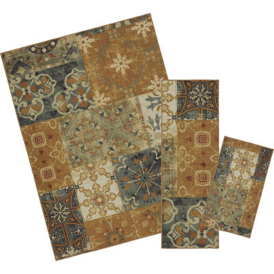 Mohawk Home Soho Harmonic Patch Rectangular 3-pc. Rug Set