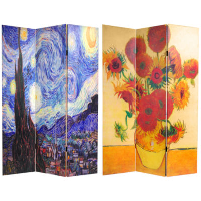 Oriental Furniture 6' Works Of Van Gogh Room Divider