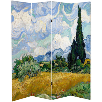 Oriental Furniture 6' Works Of Van Gogh Room Divider