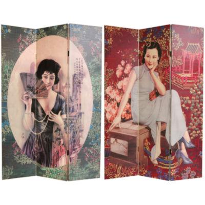 Oriental Furniture 6' Shanghai Ladies Room Divider