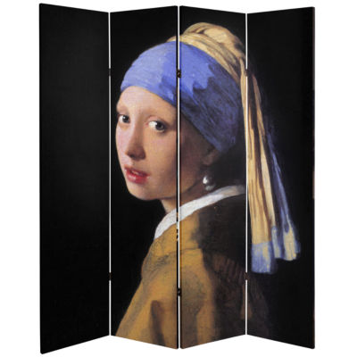 Oriental Furniture 6' Works Of Vermeer Room Divider
