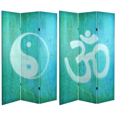 Oriental Furniture 6' Yin Yang Om Room Divider