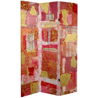 Oriental Furniture 6' Avant-Garde Collage Room Divider