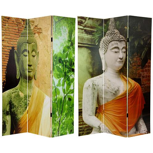 Oriental Furniture 6' Draped Buddha Room Divider