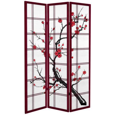 Oriental Furniture 6' Cherry Blossom 3 Panel RoomDivider