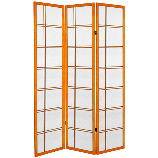 Oriental Furniture 6' Double Cross 3 Panel Room Divider