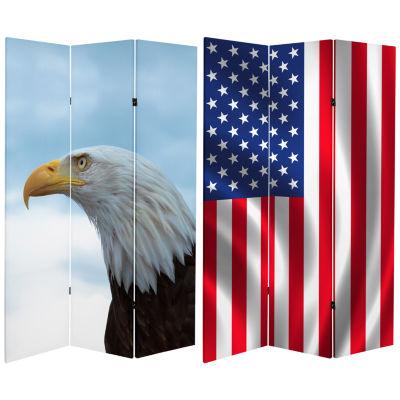 Oriental Furniture 6' Spirit Of America Room Divider